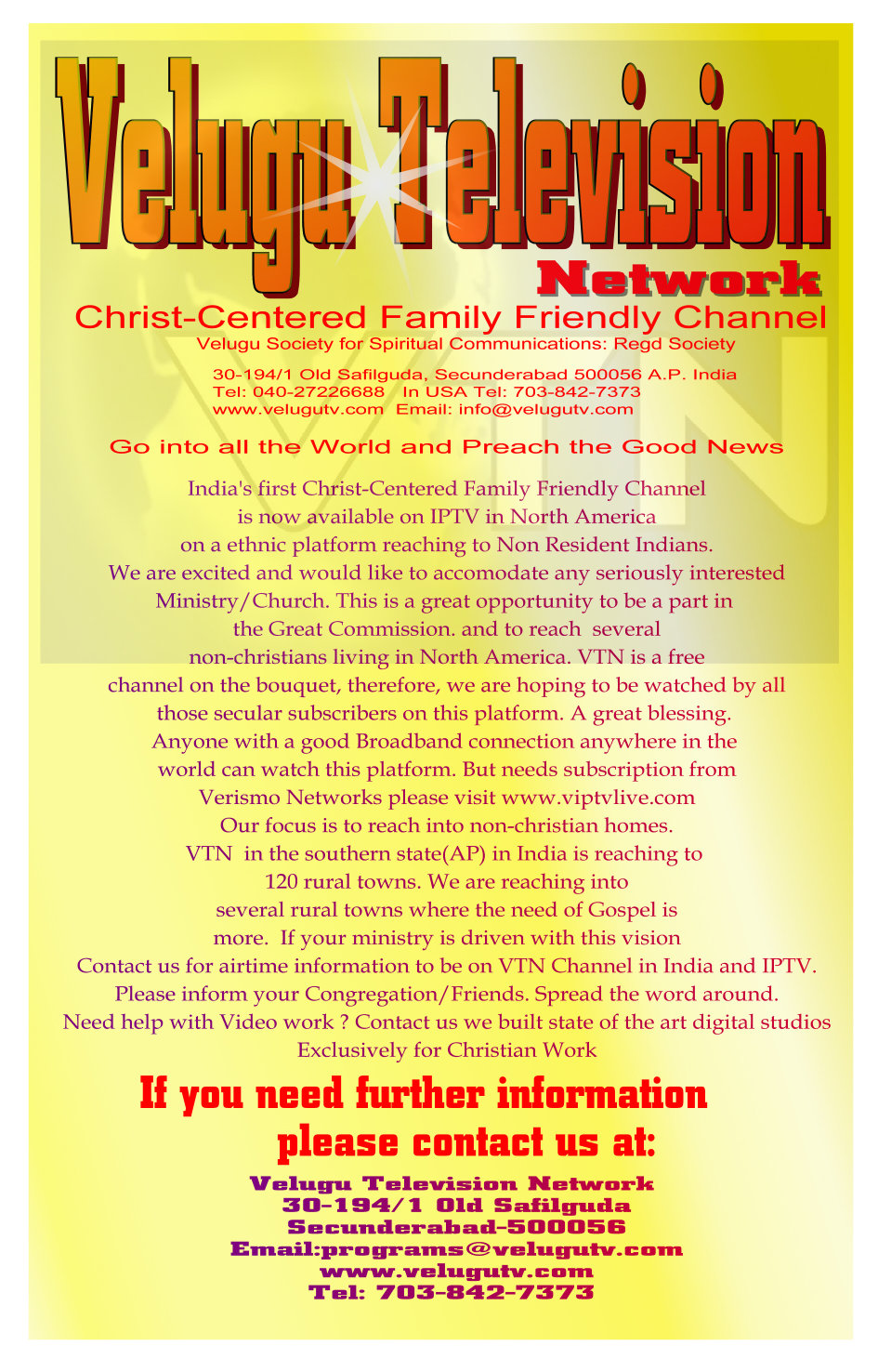New Jersey Indian Christian Church started by Telugu People